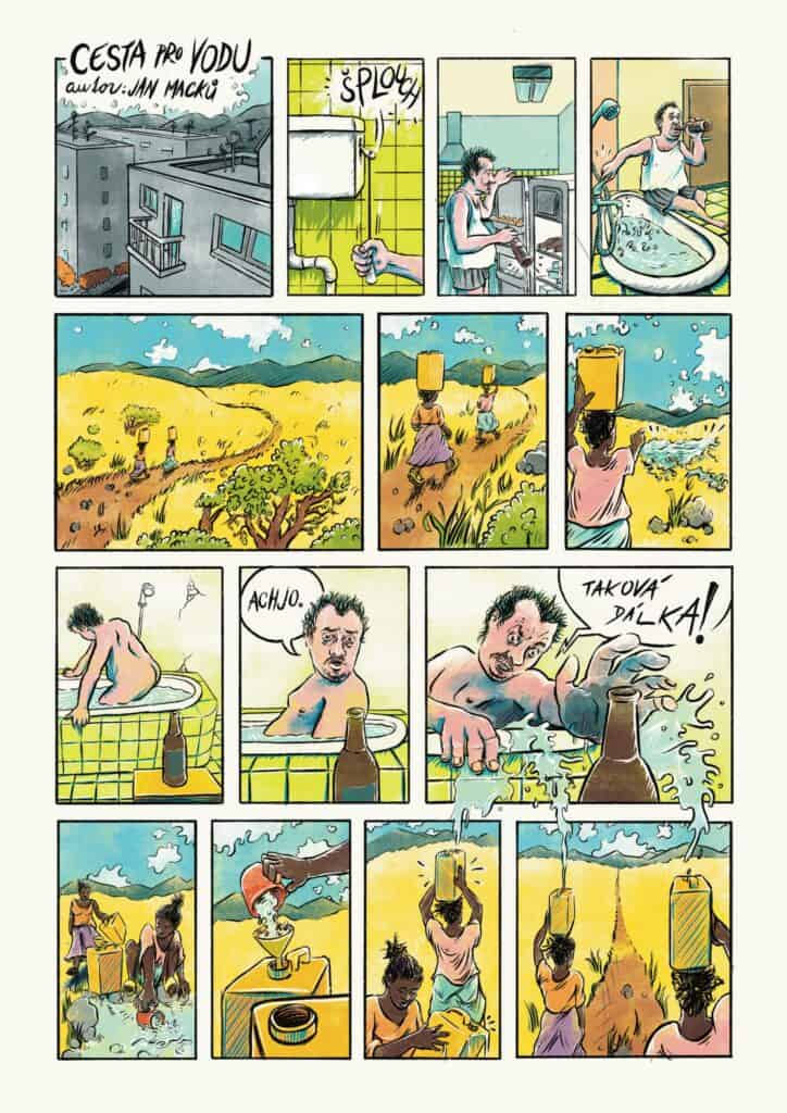 Komiks pitná voda sucho