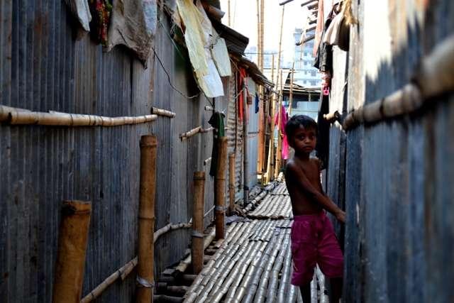 Ulička ve slumu