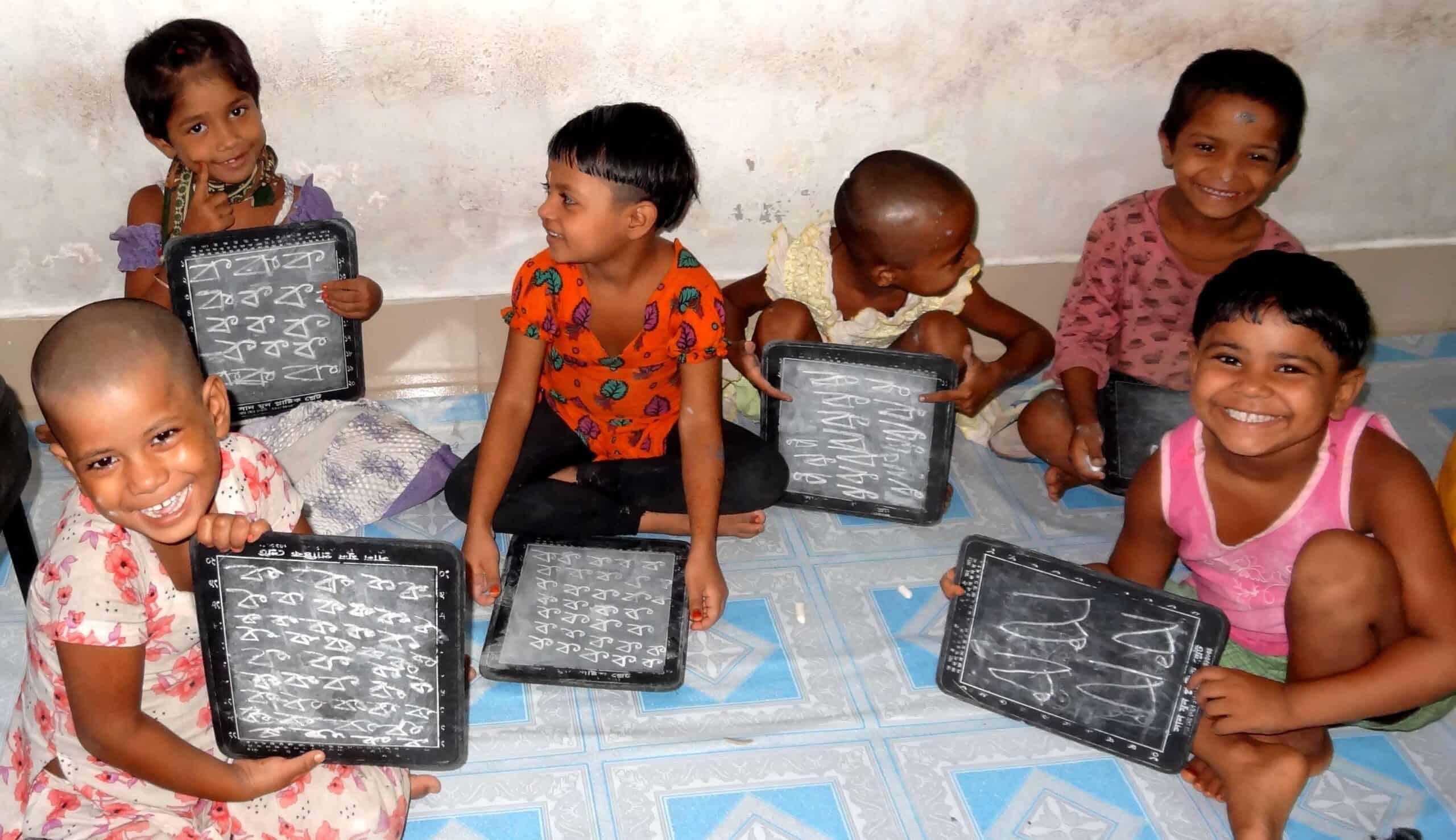 Děti se učí číst, psát apočítat